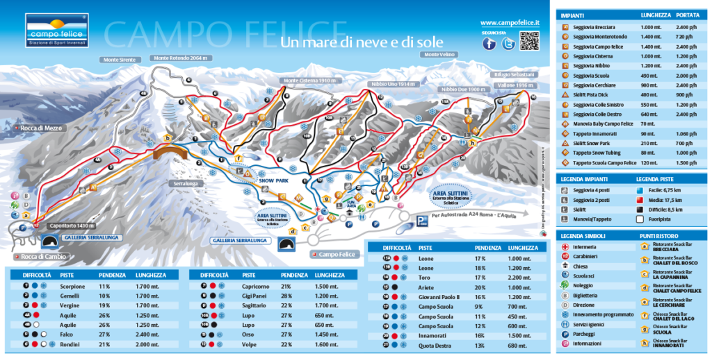 Map of Campo Felice ski area