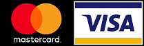 Mastercard and Visa credit card logos